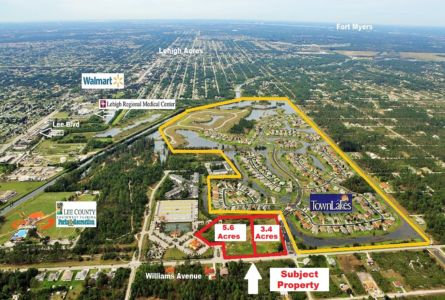 Town Lakes Commercial Split Lots Labeled